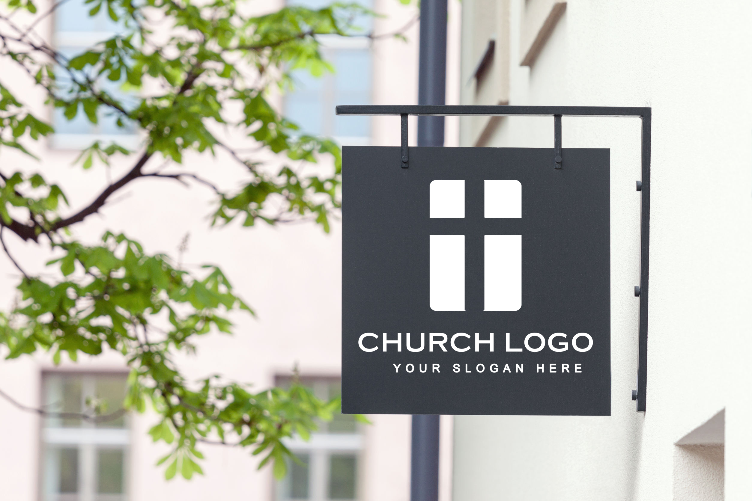 picture of church logo design on sign