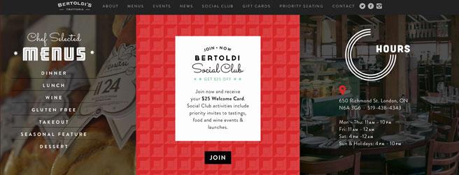 restaurant website #3