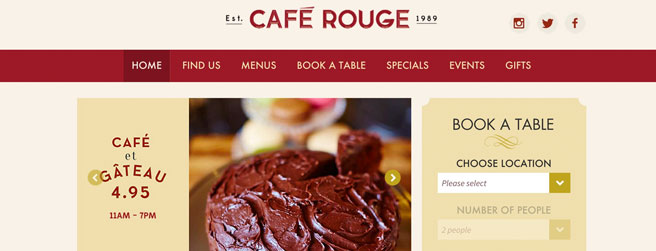 restaurant website #6