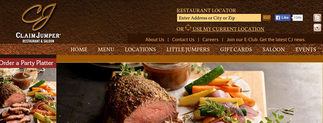 restaurant website #9