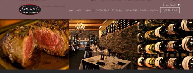 restaurant website #5