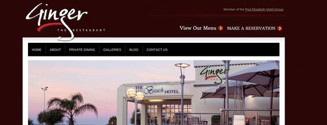 restaurant website #8