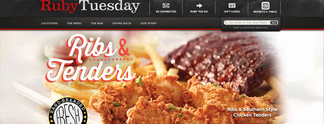restaurant website #4