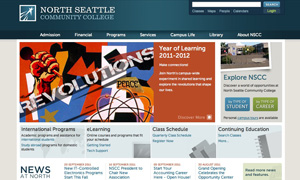 North Seattle Community College website