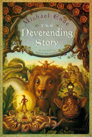 The Neverending Story- book covers from the 70s