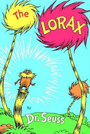 The Lorax- book covers from the 70s