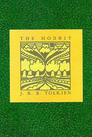 The Hobbit J.R.R. Tolkien Green Book Cover Design