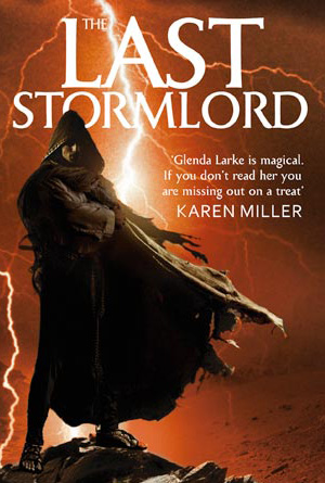 The Last Stormlord by Glenda Larke - Brown Book Cover Design