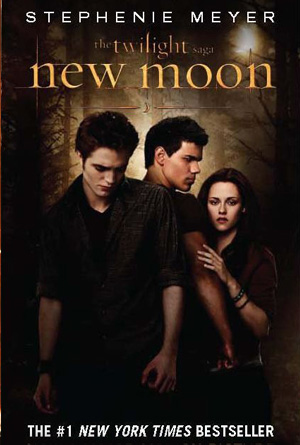 New Moon by Stephenie Meyer - Brown Book Cover Design