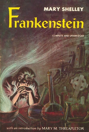 Frankenstein by Mary Shelley - Book Covers of Literary Classics from the 19th Century