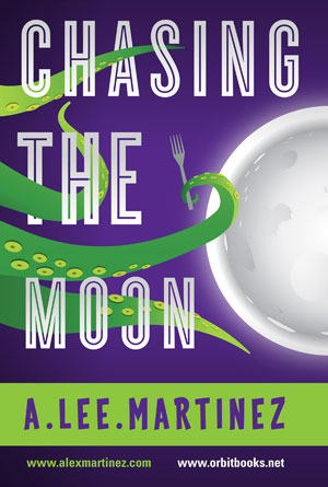 Chasing the Moon by A. Lee Martinez - Humor Book Cover Designs