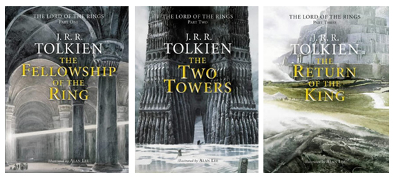 Book covers for the Lord of the Rings published by Harper Collins Illustrations by Alan Lee