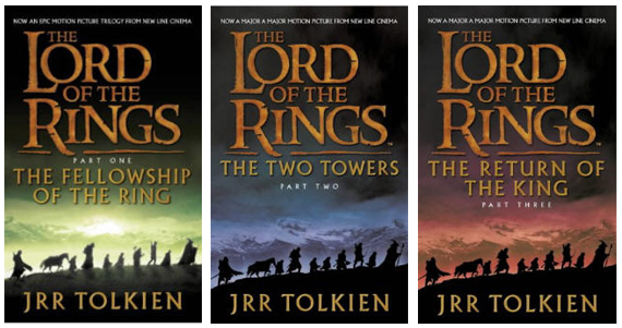 Book covers for the Lord of the Rings published by Harper Collins