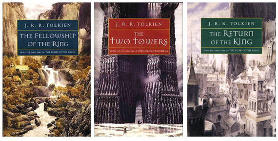 Book covers for the Lord of the Rings published by Houghton Mifflin