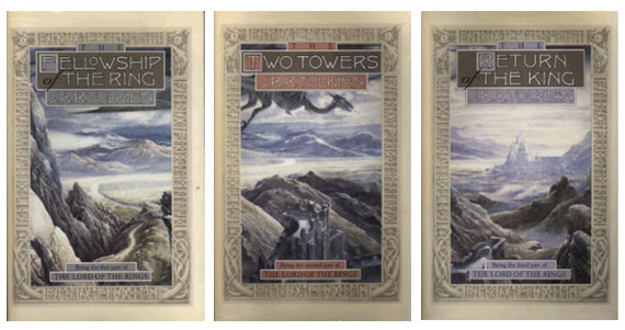 Book covers for the Lord of the Rings published by Houghton-Mifflin