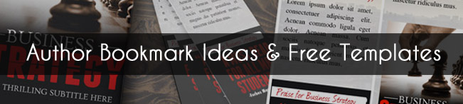 free author bookmark template and bookmark ideas adazing