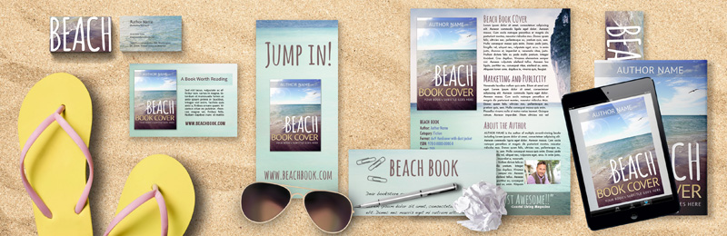Sample Summer beach book using the Brand Your Book Mock-up