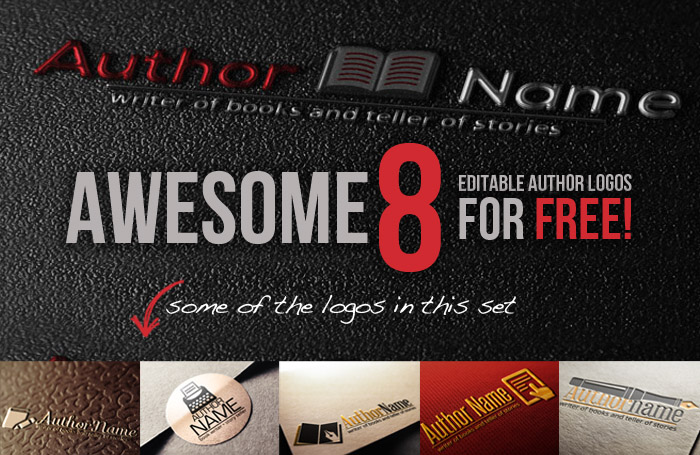 Awesome 8 free author logo templates logo headers wajeb Images