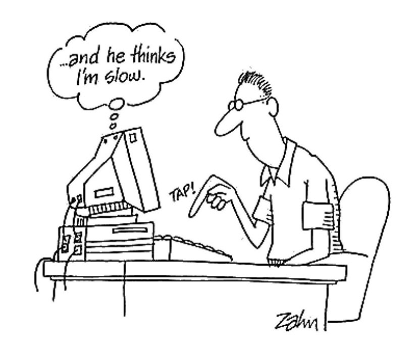 typing speed cartoon