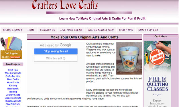 Best Arts, Crafts and Hobby Websites