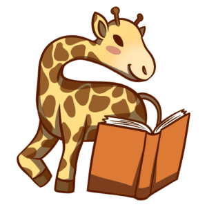 Animals Reading Clipart: giraffe reading book
