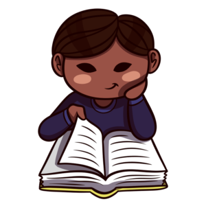 Children Reading Clipart: boy reading peacefully