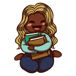 Children Reading Clipart: girl hugging books