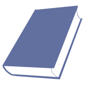 closed book clipart: rotated blue closed book