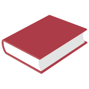 closed book clipart: red closed book no spine