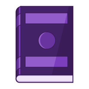 closed book clipart: purple closed book