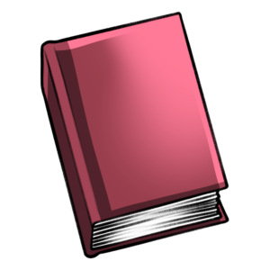 closed book clipart: pastel red closed book