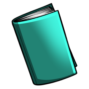 closed book clipart: green floating book