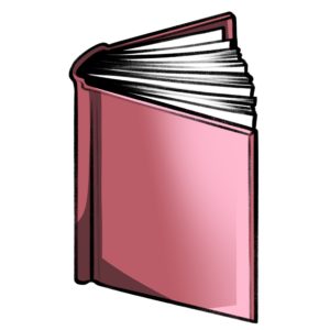 closed book clipart: salmon slightly open book