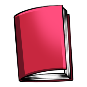 closed book clipart: red floating book