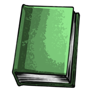 closed book clipart: green closed book