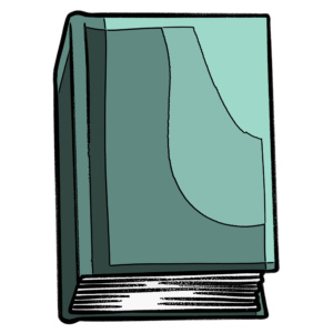 closed book clipart: light teal closed book