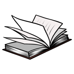 Open Book Clipart: book open with windy pages