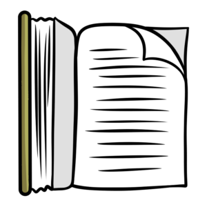 Open Book Clipart: book open right page view