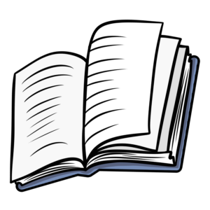 Open Book Clipart: book open blue cover
