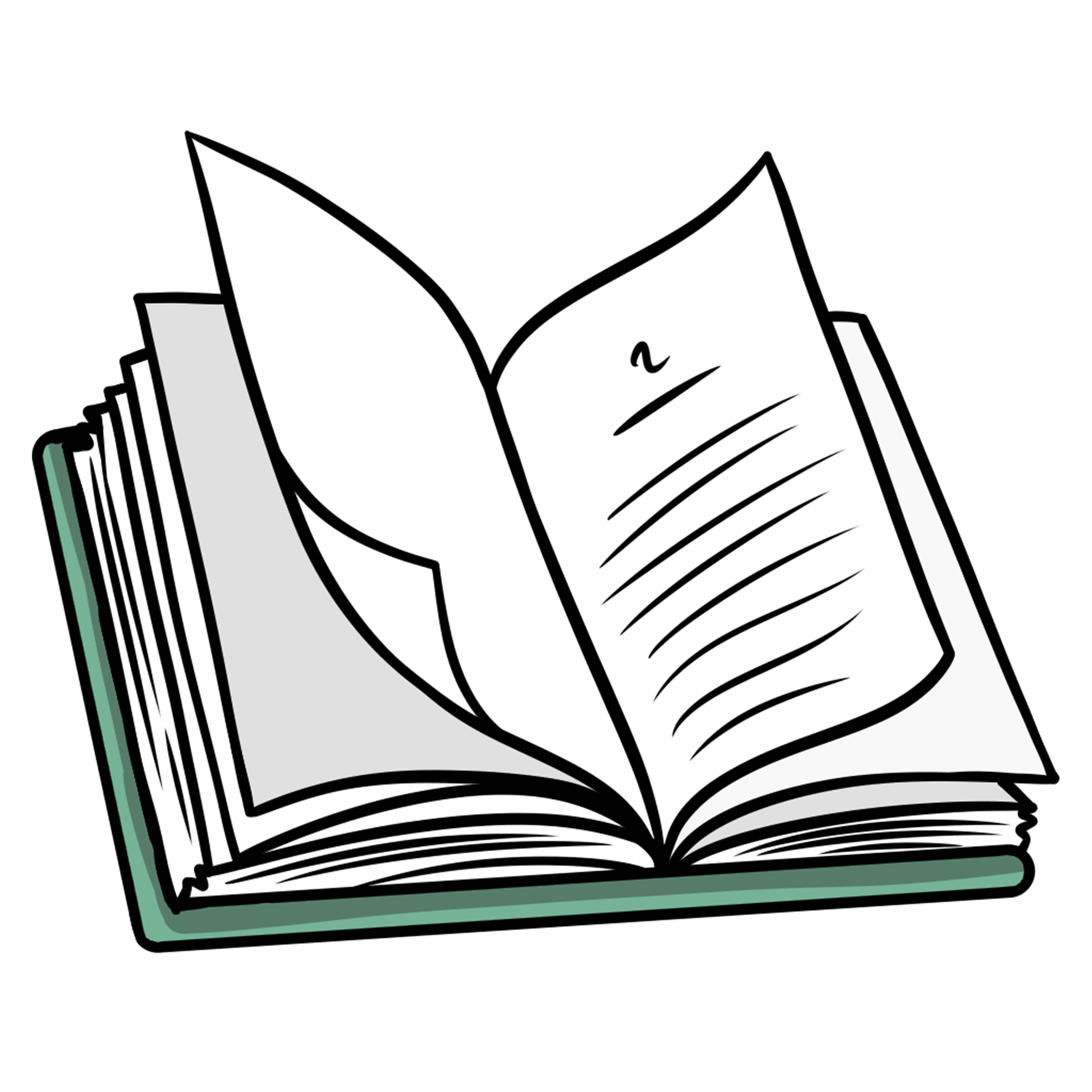 book clipart open chapter transparent 2nd clip