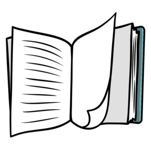Open Book Clipart: book open with page flip