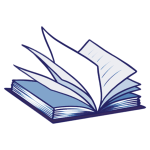 Open Book Clipart: blue tint open pages