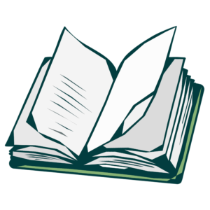 Open Book Clipart: open book green tint