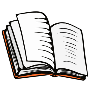 Open Book Clipart: book open orange cover