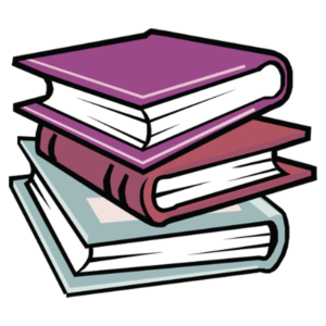 Stacked Book Clipart: red colored stack of books