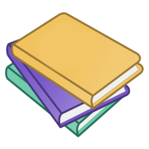 Stacked Book Clipart: green and blue book stack