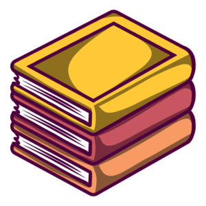 Stacked Book Clipart: neat stack of yellow books
