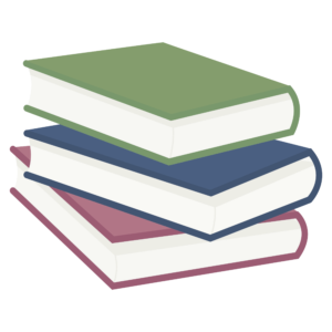 Stacked Book Clipart: organized stack of books