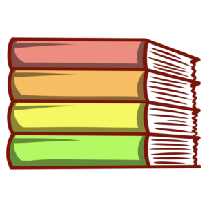 Stacked Book Clipart: neat stack book spines