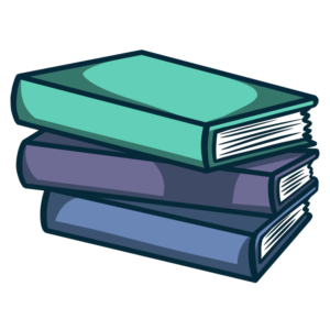 Stacked Book Clipart: slightly messy stacked books